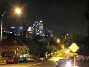 … und noch der Blick vom Haus Richtung Innenstadt.