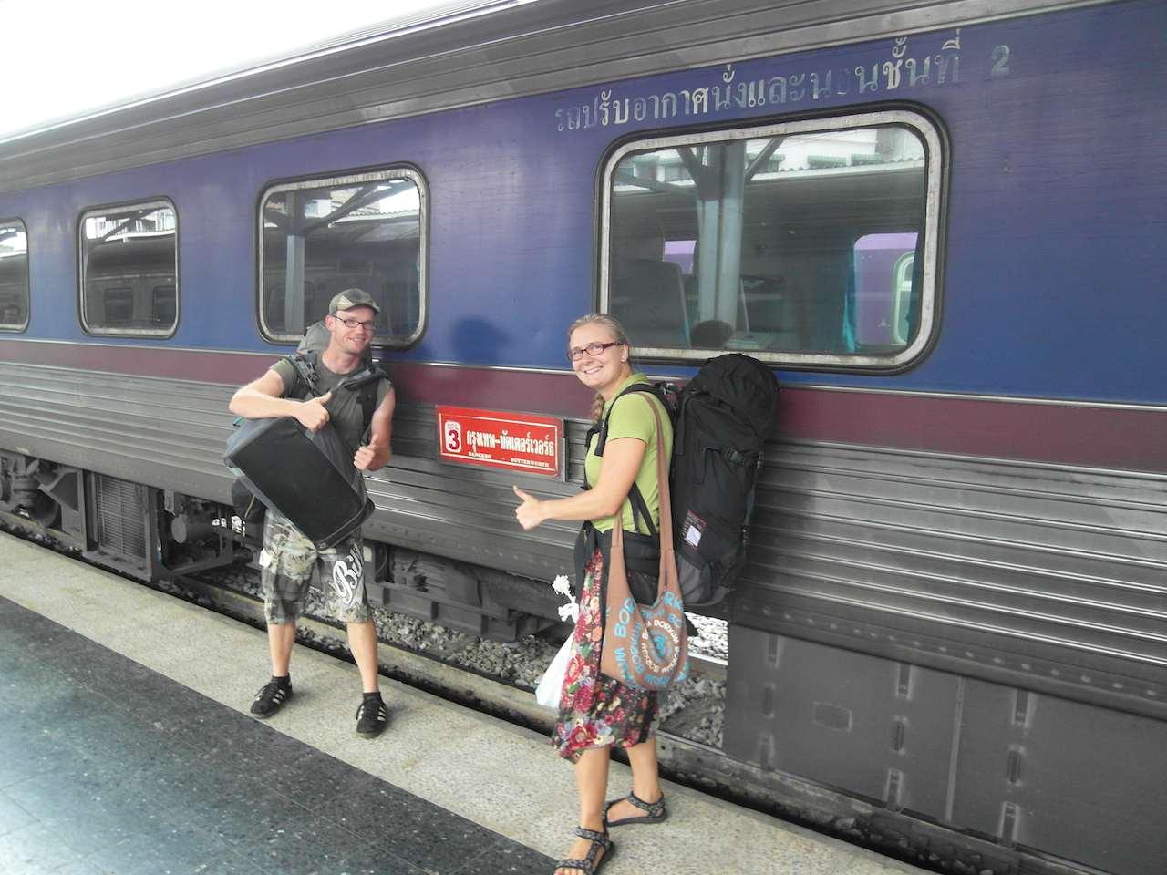Zug nach Bangkok