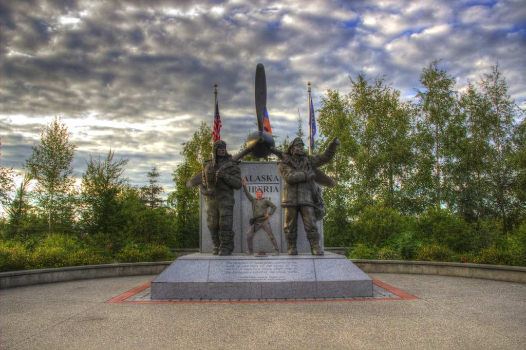 Alaska Liberia WWII Monument in Fairbanks