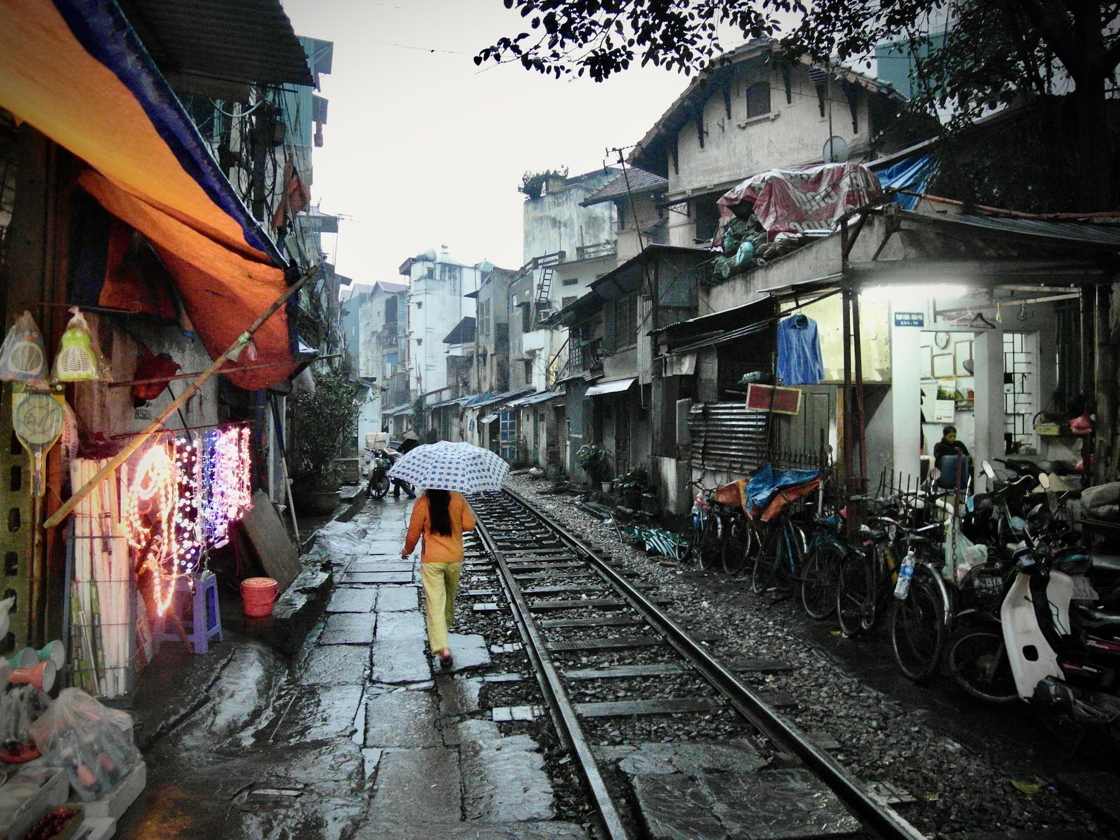 Zug durch die Stadt