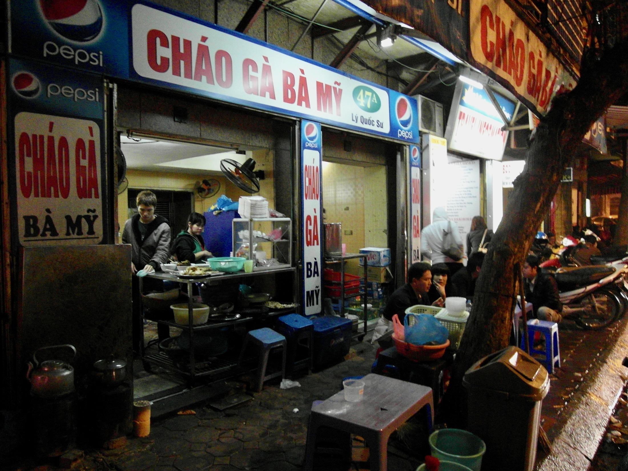 Ein Lokal in Hanoi