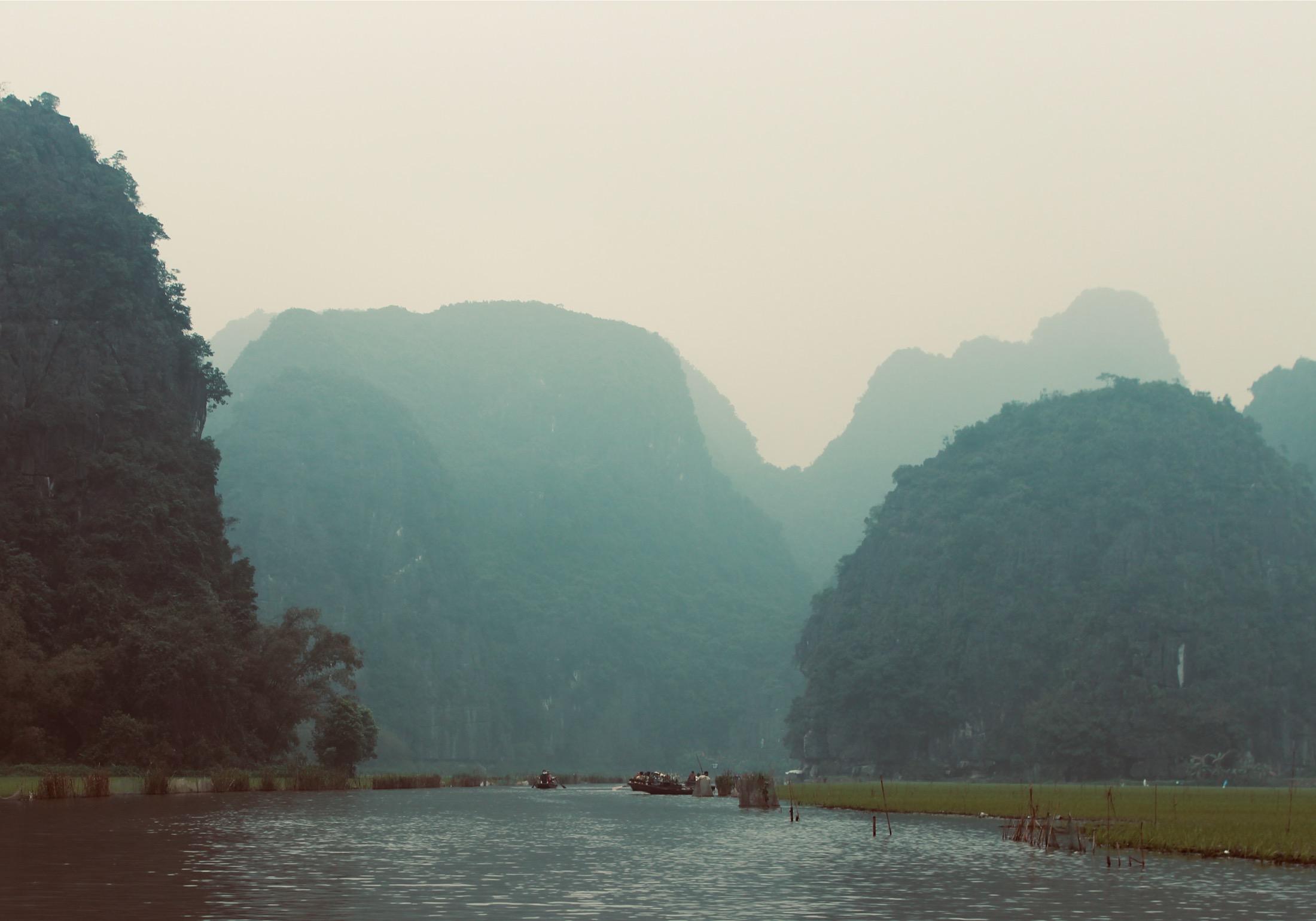Tam Coc auf dem Fluss